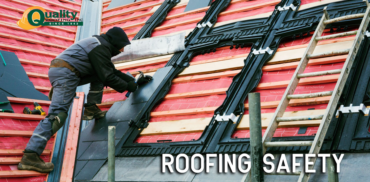 roofer exercising safety