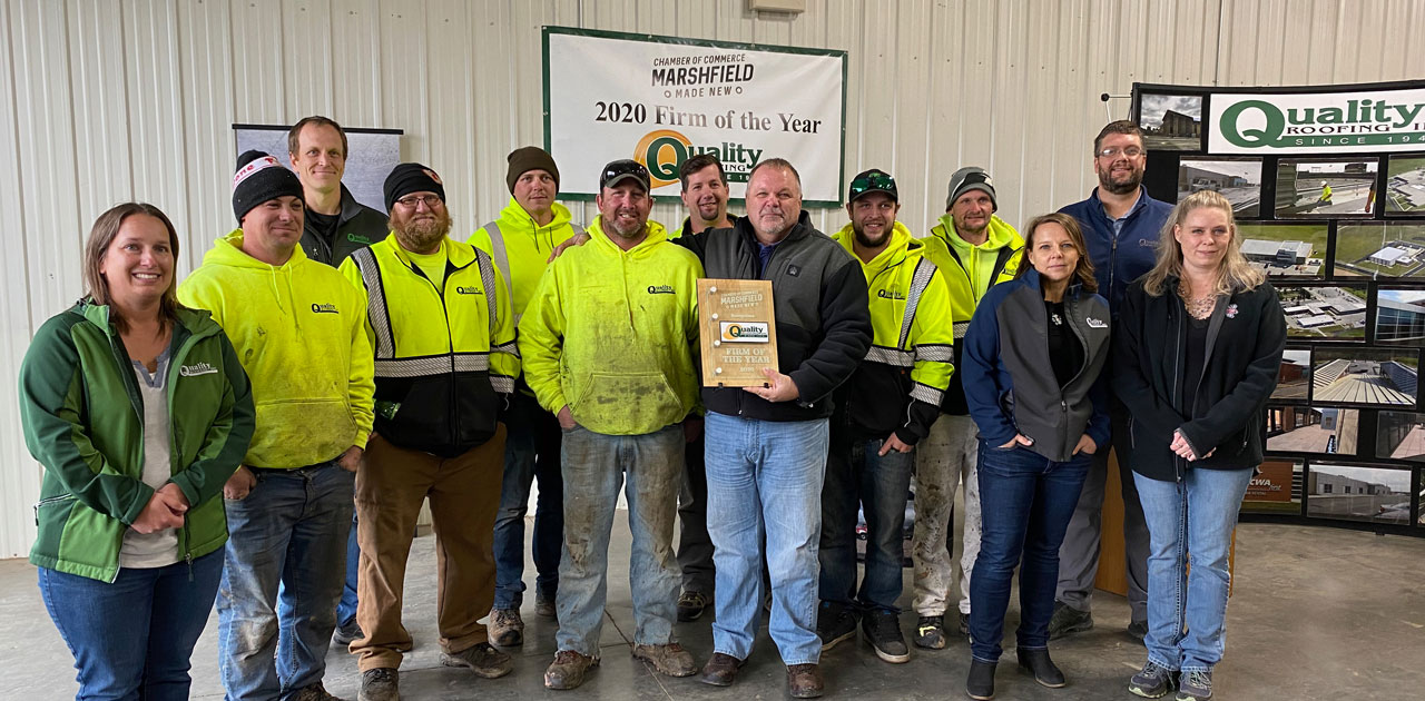 "Quality Roofing Celebrates ""2020 MACCI Firm of the Year"""